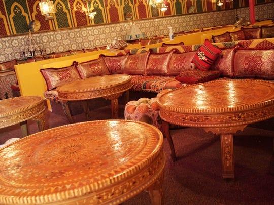 Casablanca Restaurant serves Moroccan cuisine.