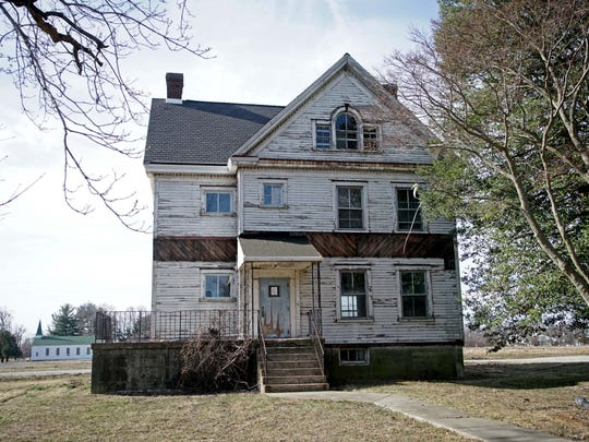 Building 39, former officer quarters, will be soon be renovated as part of the redevelopment of Ft. DuPont. Historic homes like this were used to house health services after the fort was decommissioned.