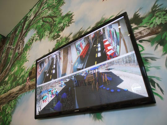 Kidz Ink II, a day care in Bear, has several cameras with monitors throughout the facility.