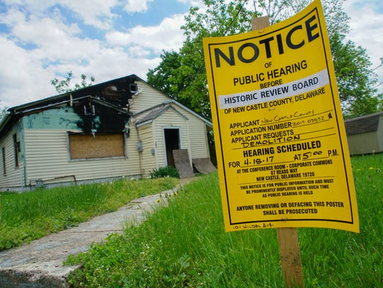 A home sits vacant in the 100 block of Wildel Ave.