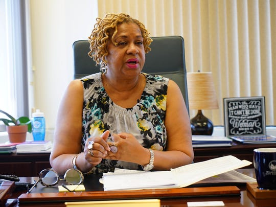 Wilmington City Council President Hanifa Shabazz talks about the pilot programs based on the Centers for Disease Control and Prevention's research into Wilmington's gun violence as a public health issue.