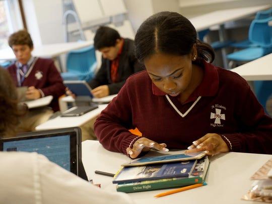 St. Elizabeth High School sophomore Taniah Berry, 15,