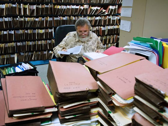 Stephen Clark, a file clerk for over 17 years at Kimmel,