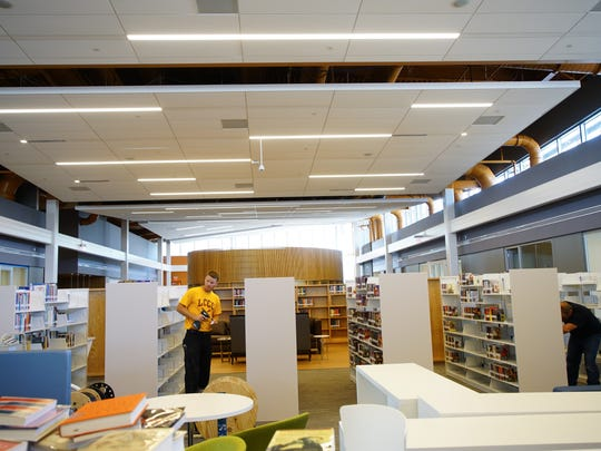 The Route 9 Library is in the final days of completion.