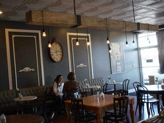 Patrons dine at the former Bon Appetit restaurant in the Talleyville Shopping Center that is now called De La Coeur CafŽ et Boulangerie.