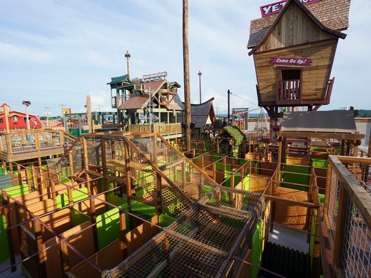 The Yeti Fun Zone and Maze at Bigfoot on the Strip has a variety of underground tunnels, a slide, rope climbs and more.