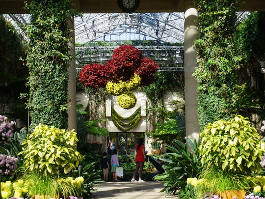 Visitors to Longwood Gardens enjoy the season Chrysanthemum Festival that is now on display.