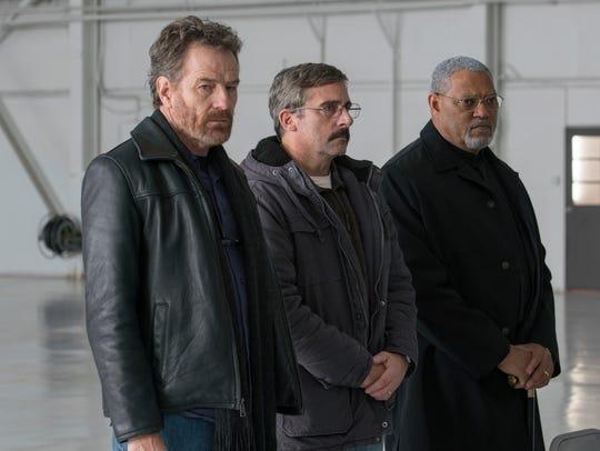 Steve Carell (center) recruits his former Marine buddies