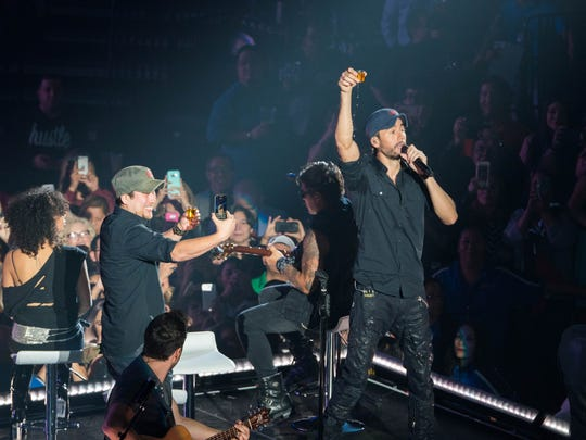 Enrique Iglesias performs at the American Bank Center