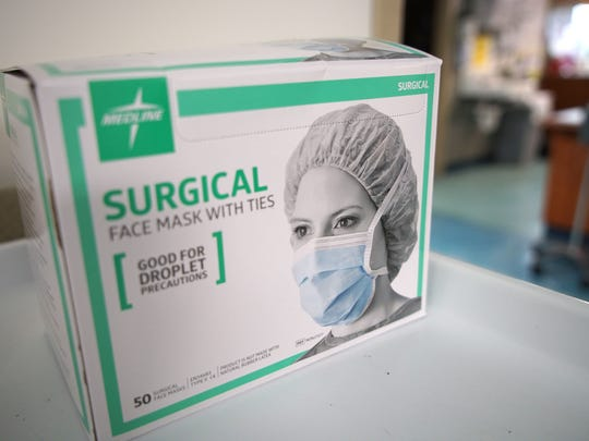 Surgical mask are placed around the emergency room