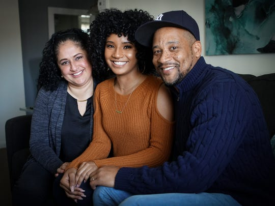 """The Voice"" contestant Kelsea Johnson, 22,  with her mother Melinda Rodriguez and father Willard Johnson."