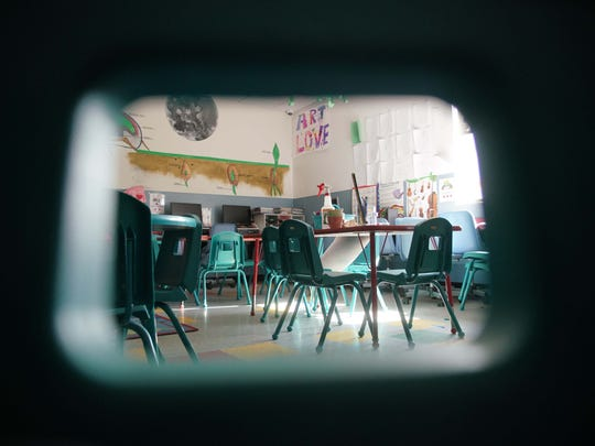A classroom at a local day care.