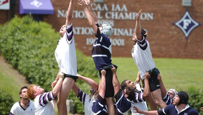 Furman's men's rugby team won national championships in 2003, 2004 and 2005 and was runner-up in 2007 and 2008.