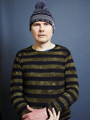 "Smashing Pumpkins frontman Billy Corgan poses for a portrait in promotion of the band's new album ""Monuments To An Elegy"" in New York."