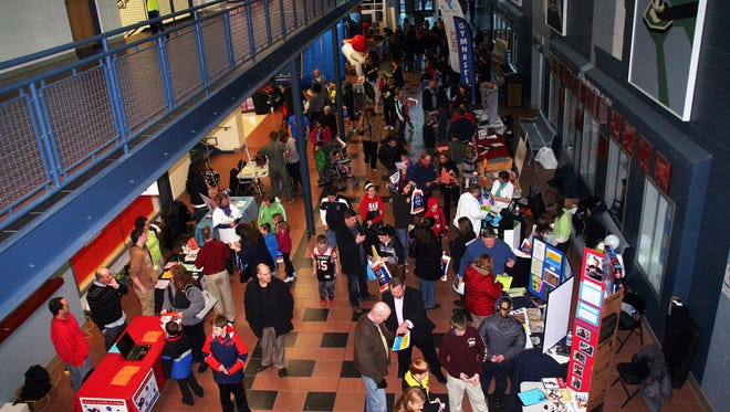 The Lakota schools' Summer Fair features more than 100 exhibitors along Lakota East and West's Main Street hallway. This is a scene from last year's fair. It will be held March 2 at Lakota West High School and on March 4 at Lakota East.