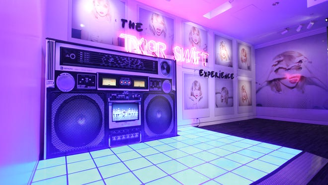 """Part of """"The Taylor Swift Experience"""" exhibit, currently on display at the Grammy Museum in Los Angeles through Oct. 4."""