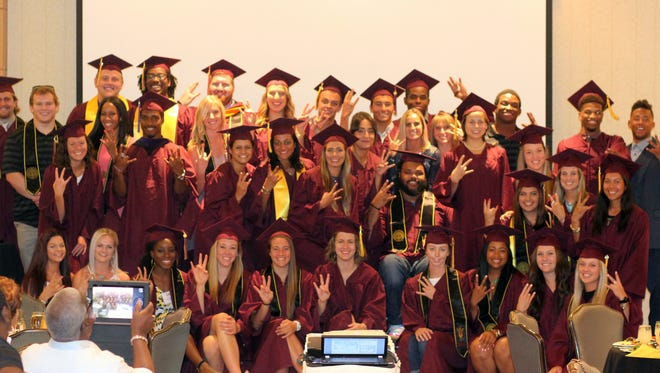 ASU's NCAA Academic Progress Rate in up to a school record 986, third highest in the Pac-12. This spring 86 ASU athletes received undergraduate degrees and seven earned graduate degrees with 23 in honors categories.