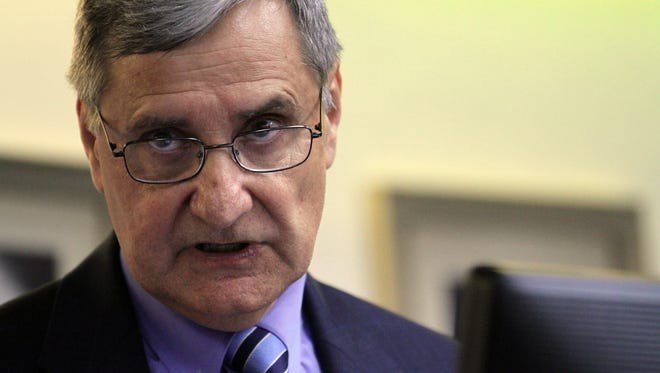 File Photo, The Advertiser Superintendent Dr. Donald Aguillard?s reorganization plan includes the elimination of the District Health and Wellness Department. Leslie Westbrook, The Advertiser Lafayette Parish School Board superintendent candidate Donald Aguillard gives his opening remarks during a public interview session Wednesday, April 22, 2015, at the LPSS office in Lafayette, La.