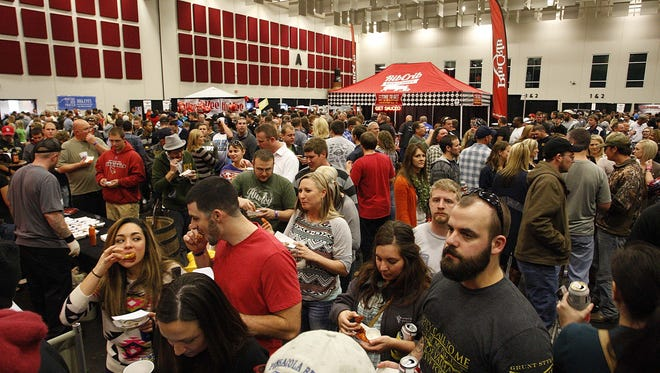 A full house crowd during Wingapalooza at the Springfield Expo Center on November 8, 2014.