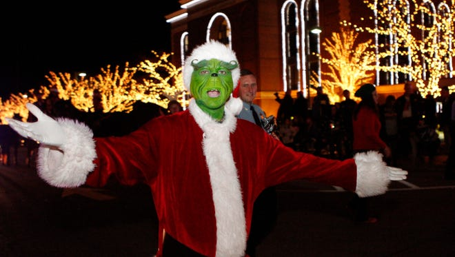 The Grinch was in the custody of the Montgomery County Sheriff's Department after exhibiting suspicious behavior.