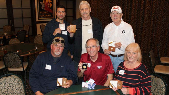 Shown in the back row: Stuart Swearingen, 4th Place; Michael Wilhite, 5th Place; Jackie Edmonds, 6th Place. Shown in the front row: Harold Lawrence, 3rd Place; Mike Risk, 1st Place; Debbie Reeves, 2nd Place.