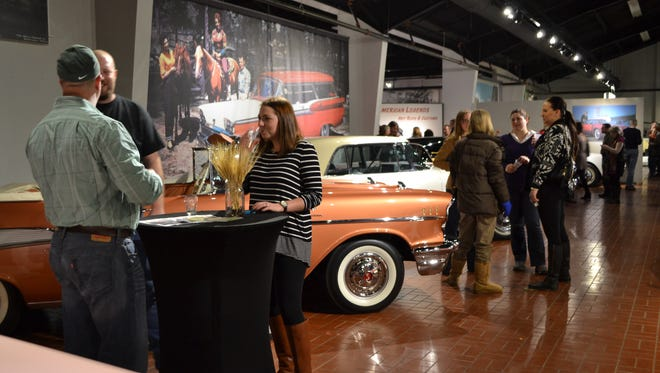 A scene from 2014's beer-tasting fundraiser at Gilmore Car Museum.
