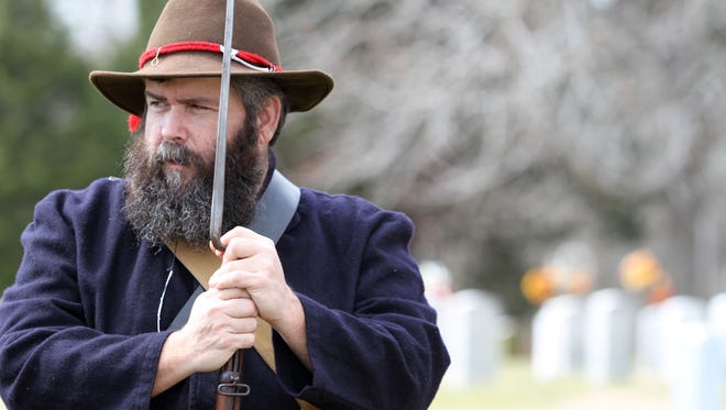 Jim Loftis was at Fort Donelson Saturday, taking part in a ceremony that honored fallen Federal and Confederate soldiers from the February 1862 battle.