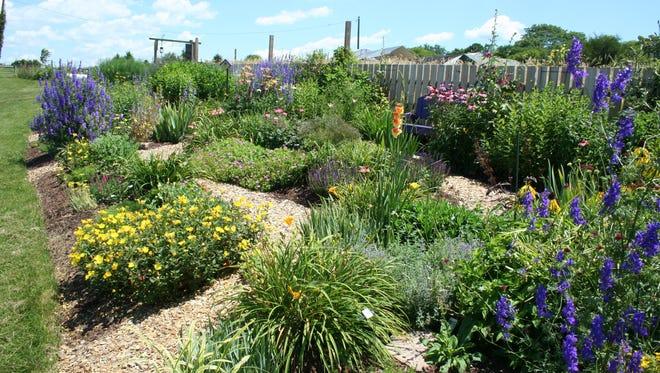 Franklin County's Sun Perennial Garden blooms through three seasons.