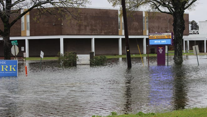 The area around Wossman High School is closed due to flooding from rain that has hit Northeast Louisiana. The area around Wossman High School is closed due to flooding from rain that has hit Northeast Louisiana on Thursday.