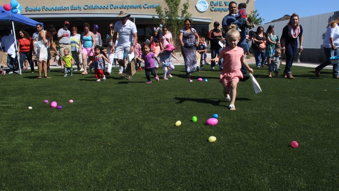 The Foundation for Blind Children in Phoenix held a beeping Easter Egg hunt.