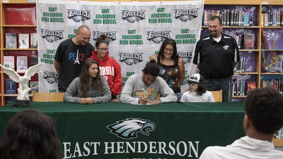 East Henderson senior Nathan Brown has signed with the Mars Hill track program.