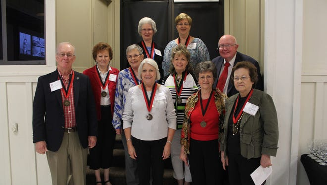 William Carey University presented eight alumni of the Class of 1966 with 50-year medallions.