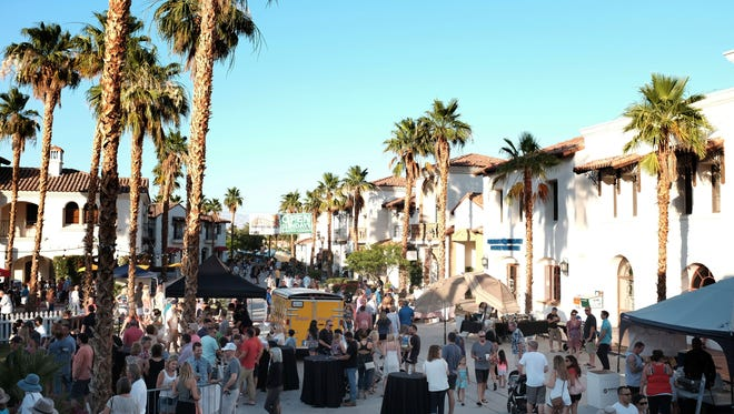 The scene at the Memorial Day Weekend Main Street Block Party in Old Town La Quinta on Saturday, May 28, 2016.