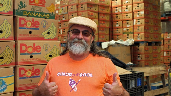 """Manna Cafe's Kenny York personifies """"cool"""" as he prepares for Manna's 3rd Annual Color Me Cool, a fundraiser that involves music, art and ice cream with all benefits going to battle hunger in Montgomery County."""