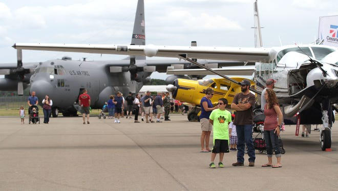 The seventh annual Airport Day took place at Mansfield Lahm Airport on Saturday, July  2, 2016. There were over a dozen kinds of aircraft, along with a classic car show and pancake breakfast.