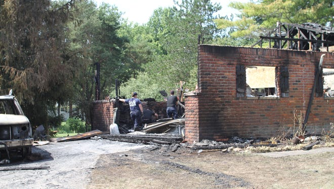 Fire investigators are searching for the cause of a Thursday fire that destroyed the garage of a Marion Township home.