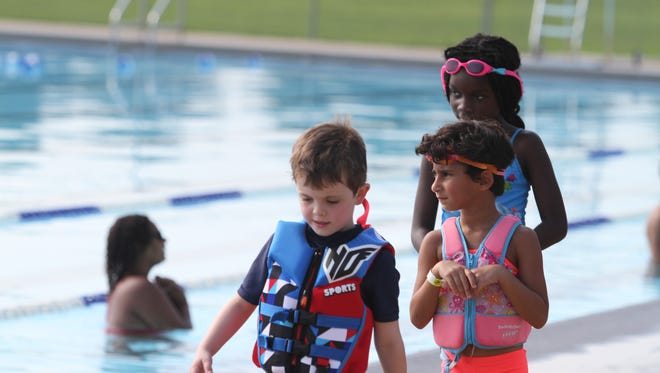 Clarksville Parks & Recreation hosted its 4th Annual Wonderkids Triathlon Saturday, with 150 kids swimming, running and cycling.