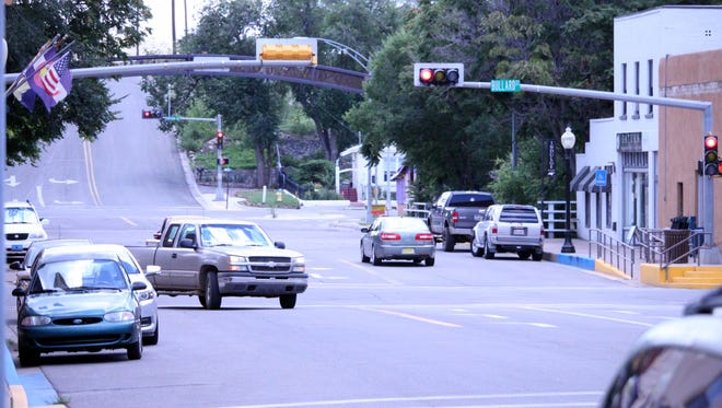 The Town of Silver City council members discussed the intersection of Broadway and Bullard in downtown Silver City during the council meeting Tuesday.