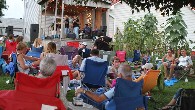 Pickin' on the Porch at MB Roland Distillery Saturday featured music by Chris Robertson and CMB.