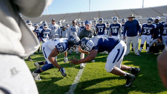 Two weeks separate Jackson State from its season opener at UNLV.