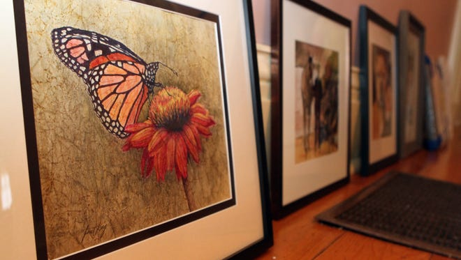 Artwork ready to be hung for the 5th Annual Tennessee Watercolor Society Region 2 Exhibit at Smith-Trahern Mansion. The exhibit will kick off with a reception Thursday afternoon from 5 -7 p.m.