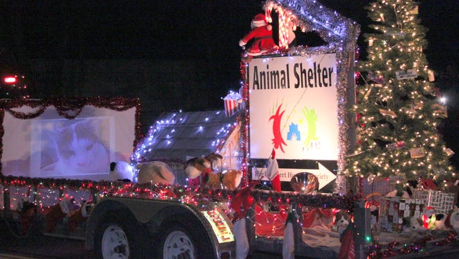 High Desert Humane Society entered a float in the Village of Santa Clara's Lighted Parade over the weekend.