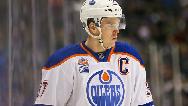 Edmonton captain Connor McDavid has 17 points in his last 10 games, including two in a loss to Buffalo Tuesday night.