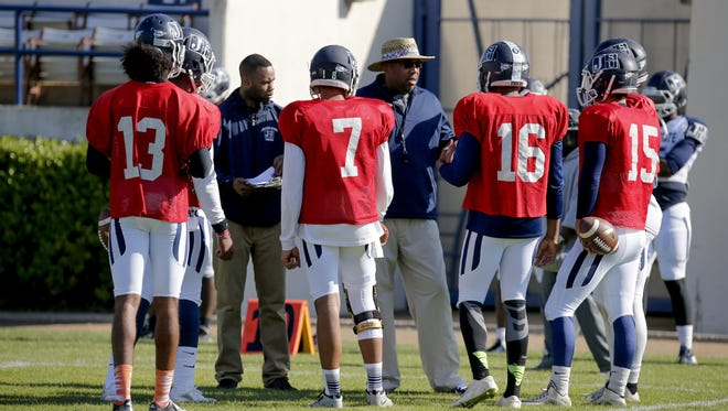 JSU offensive coordinator Chad Germany (center) has had success recruiting the state of Louisiana.