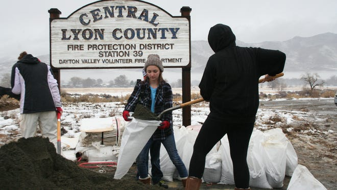 Unwanted sandbags can be dropped off at 215 Towbridge Road in Yerington.