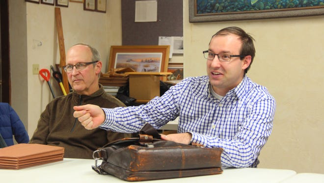 Matthew Winden (right), assistant professor at UW-Whitewater, and John Stoll, professor at UW-Green Bay, will conduct a socioeconomic study of fishing in the Green Bay region.
