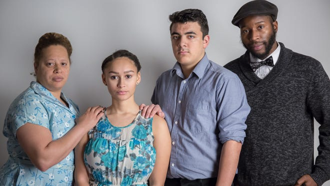 "The cast of New Edgecliff Theatre's production of Tennessee Williams' ""The Glass, running Feb. 9-25 at The Hoffner Lodge. Daryl Harris directs. From left, they are Keisha Kemper (Amanda), Talia Brown (Laura), Andrew Ornelas (Tom) and Landon E. Horton (Jim)."