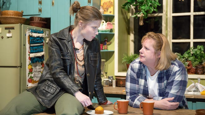 "Tess Talbot, left, and Christine Dye star in Ensemble Theatre's premiere production of Sarah Treem's ""When We Were Young and Unafraid,"" running Feb. 22-March 12, with a preview performance on Feb. 21. The production is directed by Drew Fracher."