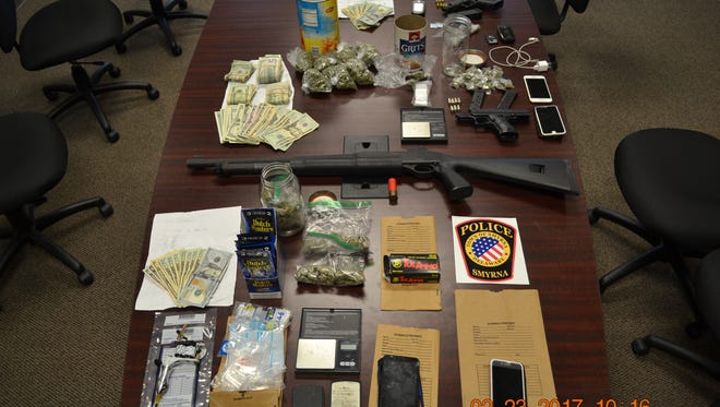 Law enforcement officials executed three search warrants early Thursday morning following a nearly seven month investigation into the illegal sale of heroin and marijuana.