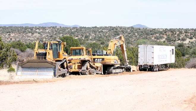 Heavy equipment gets ready to prepare construction on Tu Casa, which is going to be a facility that offers coordinated and a continuum of care for adult substance abuse. The facility will be located at 3200 32nd Bypass Road in Silver City.